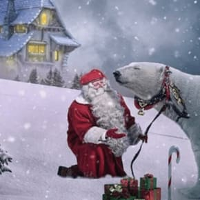 Santa's Coming Over To Your House song by Brooks and Dunn.